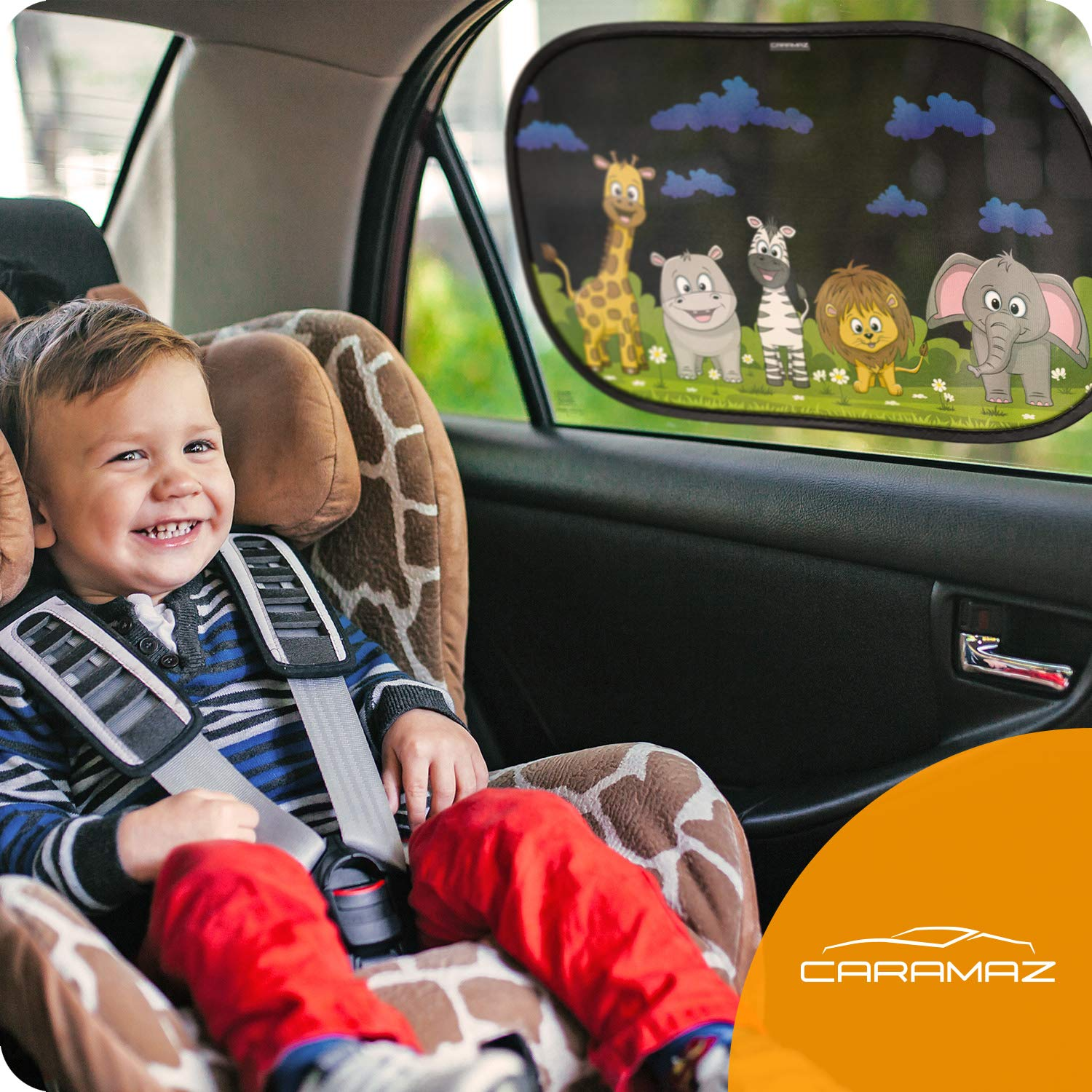 Extra Dark with Certified UV Protection Black Set of 2 Self-Adhesive Sunshades for Kids Systemoto Car Window Shades for Baby