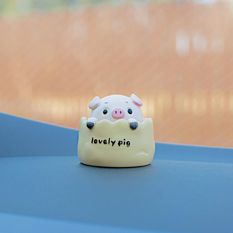 Pink Averys Wish List Bobblehead Happy Pig Car Dashboard Decors Cool Car Accessories Interior Cute Car Stuff for Women Pop Dancing Shaking Head Toys