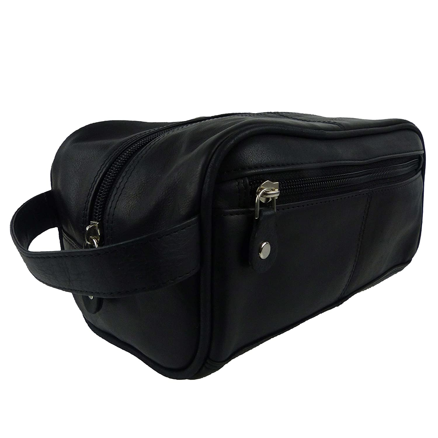 Amazon.com   Prime Hide Leather Small Wash Bag By Travel Toiletries Handy  Compact   Beauty 3d26e72577ce1