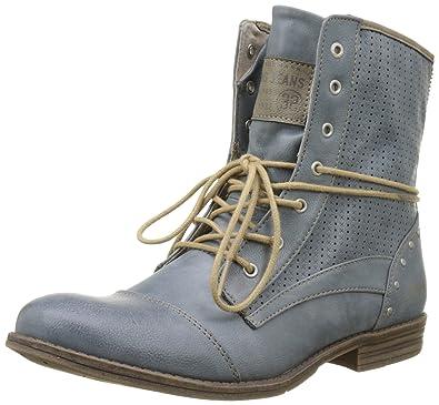 Mustang Damen 1157503 Combat Boots Blau 875 Sky 40 EU f0ouEE9M - bgr ... ede23c5415