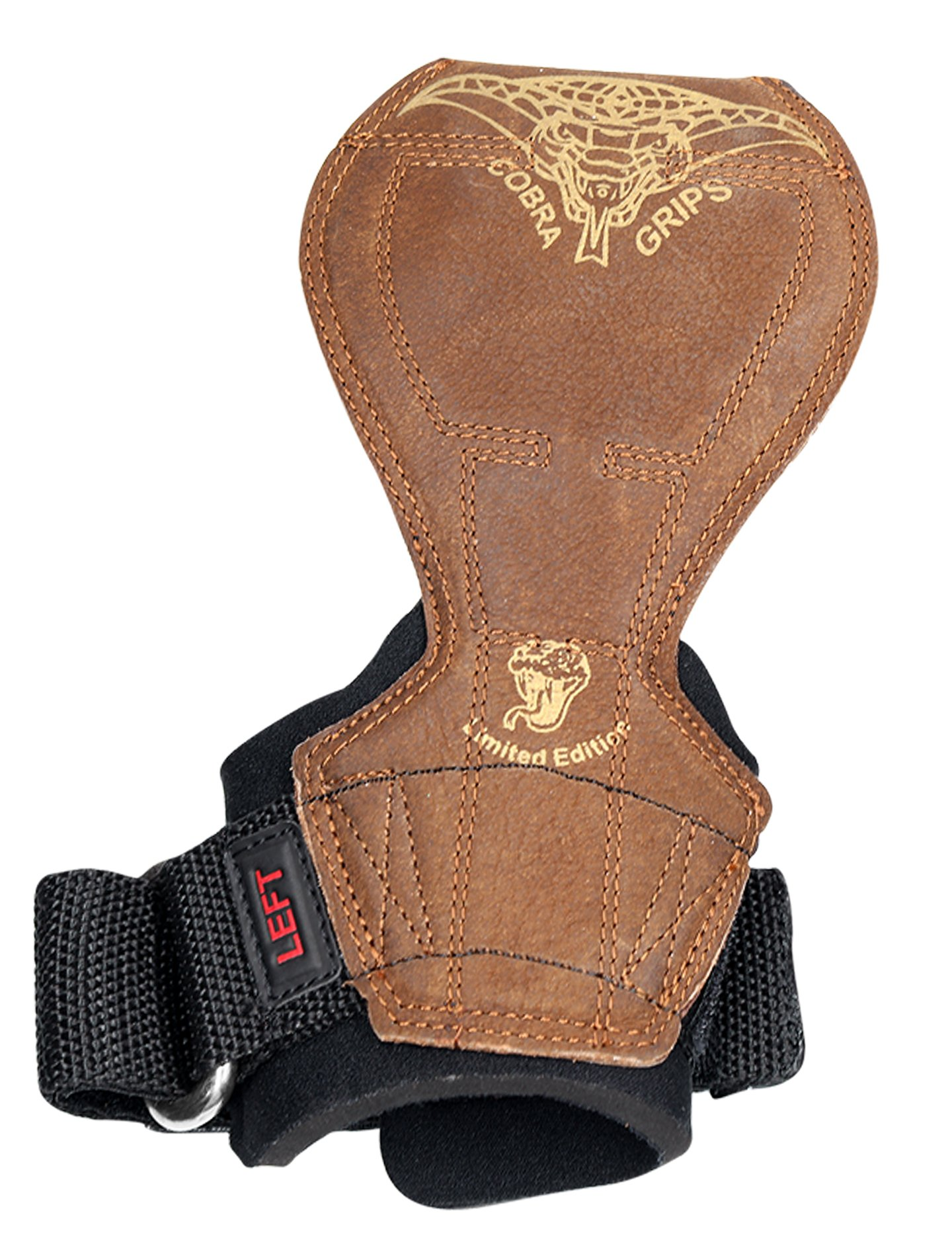 2018 Cobra Grips Flex Model Weight Lifting Gloves Heavy Duty Straps Alternative Power Lifting Hooks Best for Deadlifts with Padded Wrist Wrap Support Bodybuilding (Medium, Brown Leather) by Grip Power Pads (Image #6)