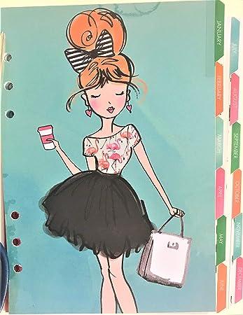 Amazon.com: Girly Girl - Calendario de 12 meses y divisores ...