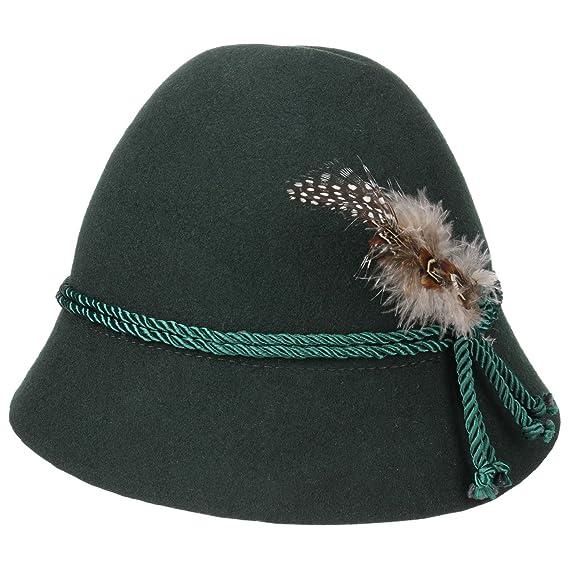 Sombrero Tradicional con Plumas para Niños sombrero de los Alpessombrero folclórico (54 cm - verde