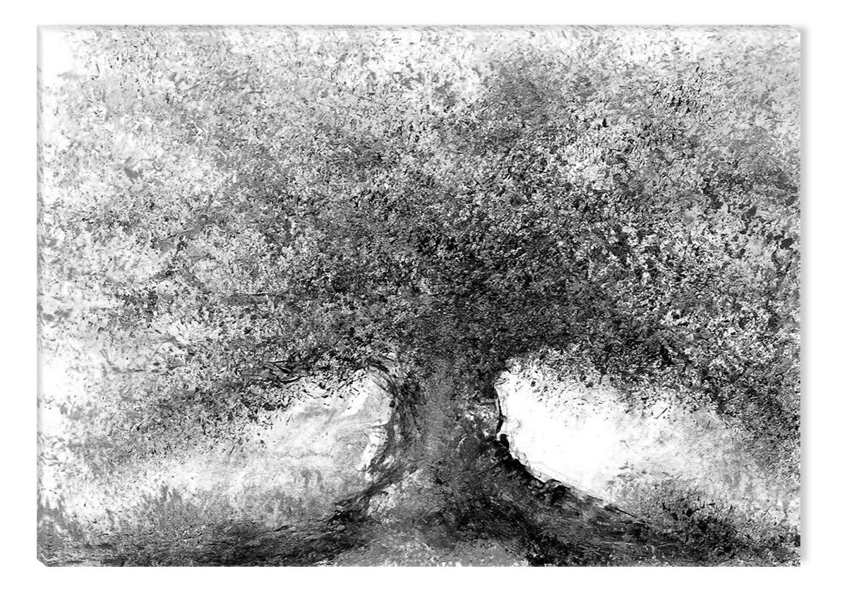 Startonight canvas wall art black and white abstract watercolor tree picture dual view surprise artwork modern framed ready to hang wall art 100 original