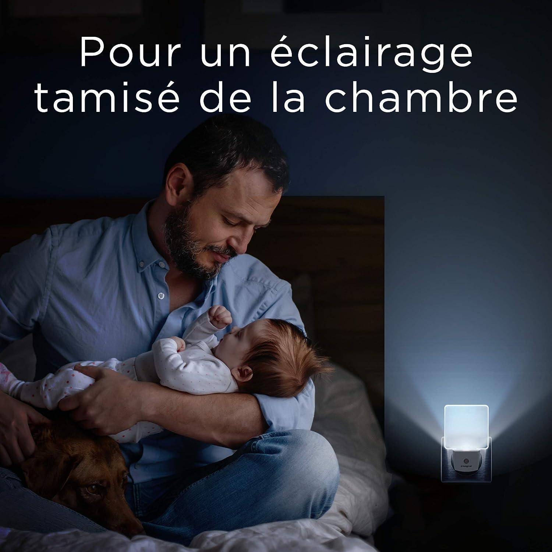 Baby with night light