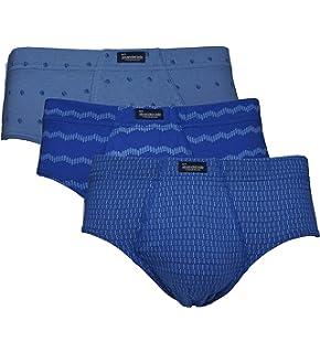Abanderado Slip Cerrado De Algodón 100% Estampado - Pack x3, color lila zigzag + lila falsas rayas + lila pétalos, talla 48/M: Amazon.es: Ropa y accesorios