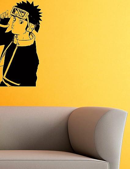 Uchiha Obito Vinyl Wall Decals Ninja Hidden Sheet Anime Naruto Shippuden Japan Manga Comics Decal Sticker Vinyl Murals Decors IL0774