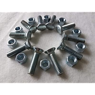 Pack of 10 Bolts for Sweeps on a Standard S-Tine Cultivator System: Industrial & Scientific
