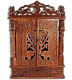 Aarsun Woods Temple / Wooden Mandir / Home Temple / Pooja / Puja Ghar With Door / Sheesham Handcrafted