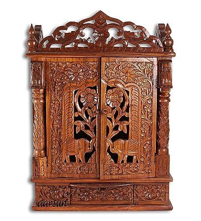 Buy aarsun woods temple wooden mandir home temple pooja puja
