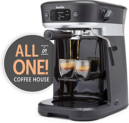 Breville All-in-One Coffee House, Espresso, Filter and Pods Coffee Machine with Milk Frother, Dolce Gusto Compatible [VCF117]: Amazon.co.uk: Kitchen & Home