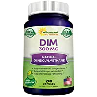DIM Supplement 300mg Plus BioPerine - 200 Veggie Capsules - Diindolylmethane DIM Max Strength Pills to Support Estrogen Metabolism & Balance, Menopause Relief, PCOS, Hormonal Acne