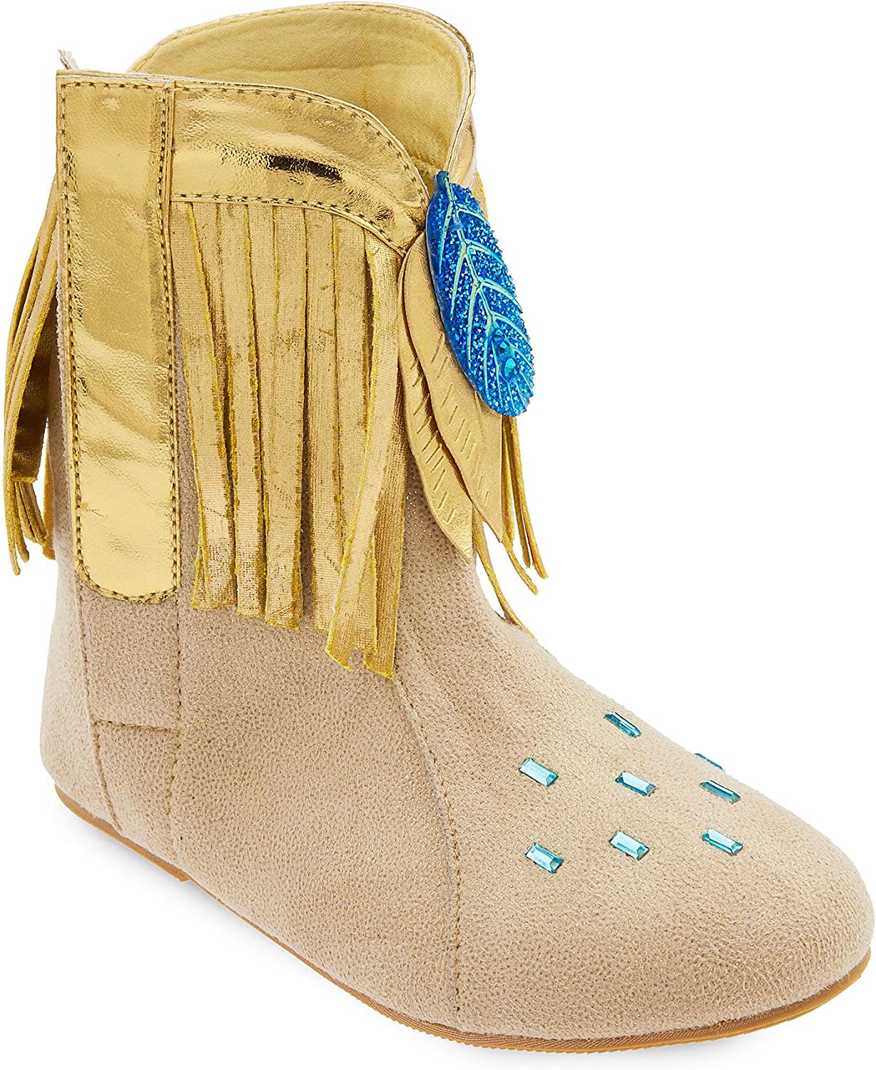 Jewelry Set American Indian Costume Disney Store Pocahontas Gold Shoes Boots