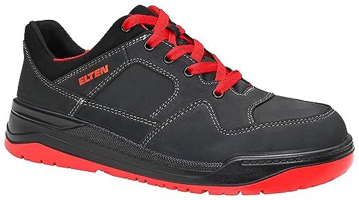 S3HerrenSportlichSneakerLeichtSchwarzrotStahlkappe Esd Elten Black Sicherheitsschuhe Red Maverick Low FlKcT1J3
