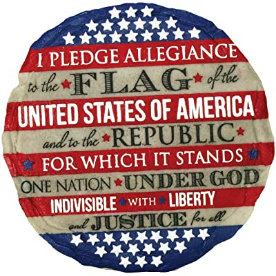 Spoontiques 13273 Pledge of Allegiance Stepping Stone : Garden & Outdoor