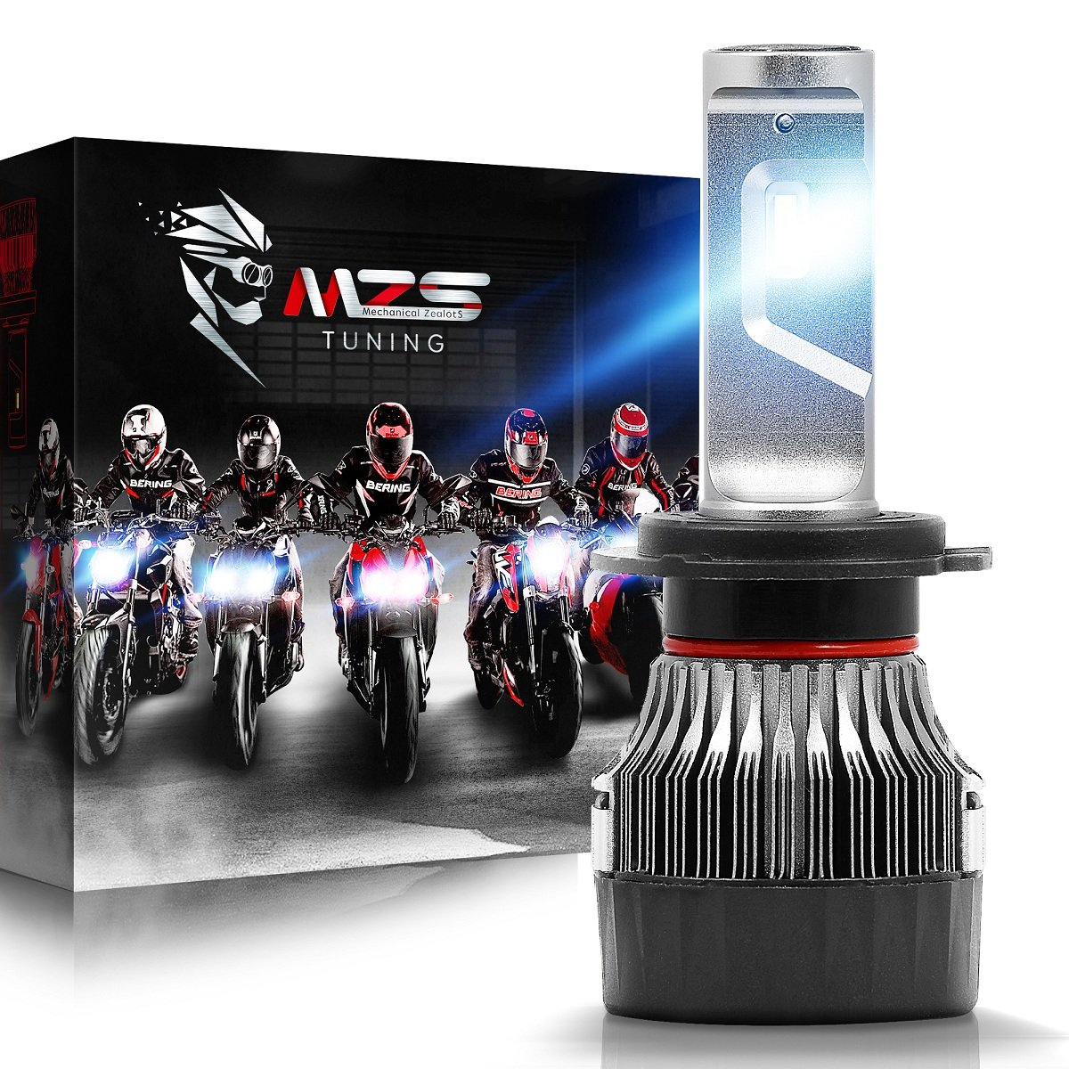 MZS H7 LED Headlight Bulb Single for Motorcycle,Mini Conversion Kit - CREE Chips - 6500K 5000Lm Extremely Bright by MZS
