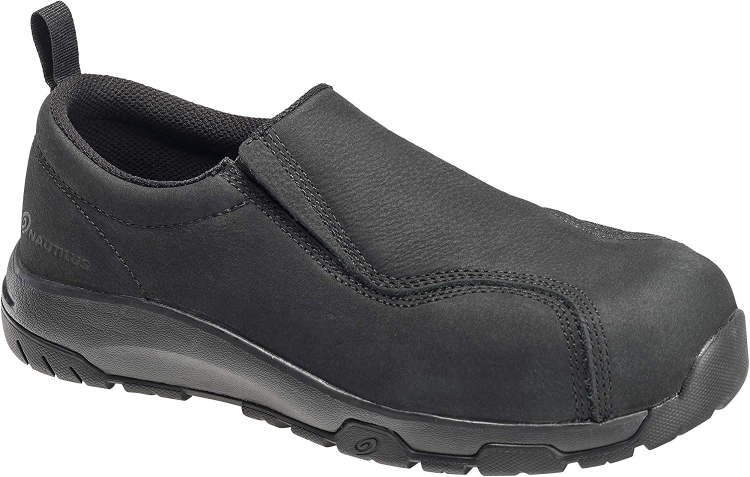 Nautilus 1646 Women's Slip-On Leather Slip Resistant ESD Work Shoe - Carbon Safety Toe