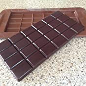 Amazon.com: Freshware CB-607BR Silicone Break-Apart Chocolate, Protein and Energy Bar Mold