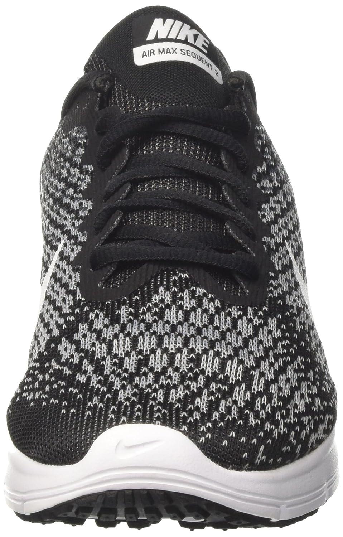 NIKE Men's Air Max Sequent 2 Running Shoe B01H4XF87U 9.5 B(M) US|Black/White/Dark Grey