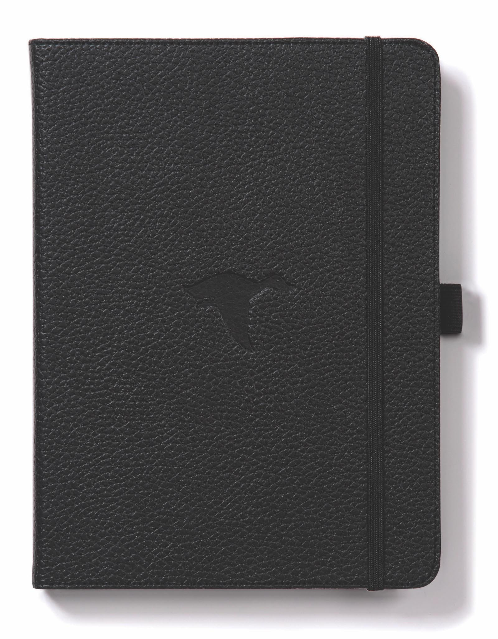 Dingbats Wildlife Medium A5+ (6.3 x 8.5) Hardcover Notebook - PU Leather, Micro-Perforated 100gsm Cream Pages, Inner Pocket, Elastic Closure, Pen Holder, Bookmark (Dot Grid, Black Duck)