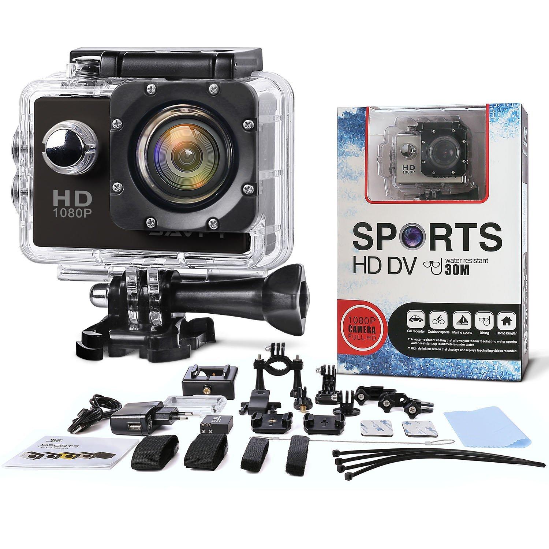 Camaras Deportivas , SAVFY® 30M Full HD 1080P 170 ° HD Gran Angular Cámara de Deporte / Videocámara de Acción / Action Sport Camera Waterproof con la Funda ...
