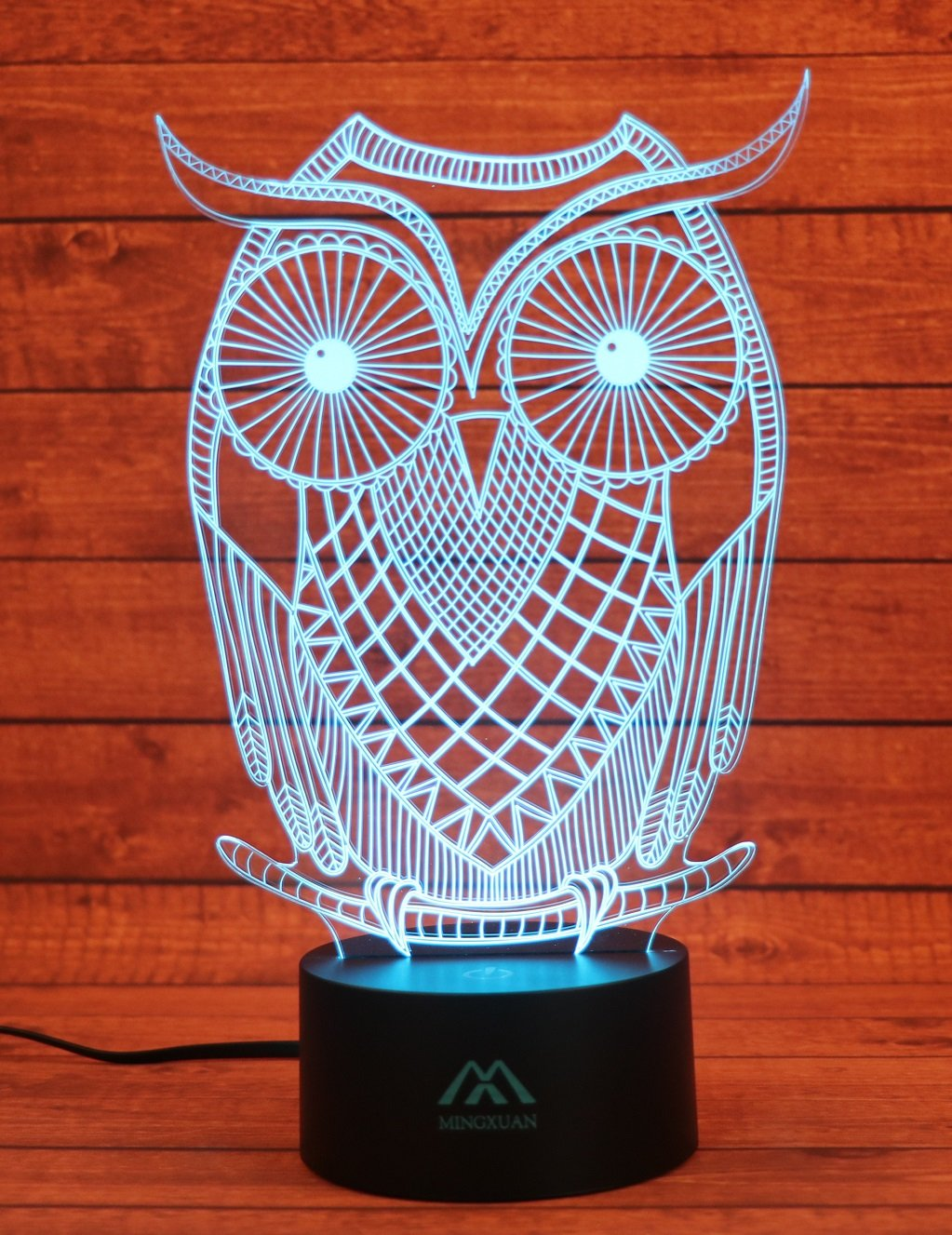 3D Owl Night light Animal 7 Colors Amazing Optical Illusion LED light home decorations produce unique lighting effects… by MingXuan