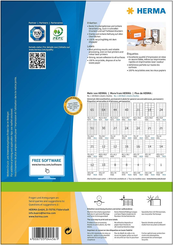 Kores Universal Etiketten 70,0 x 29,7 mm weiß 100 Blatt 3.000 Etiketten