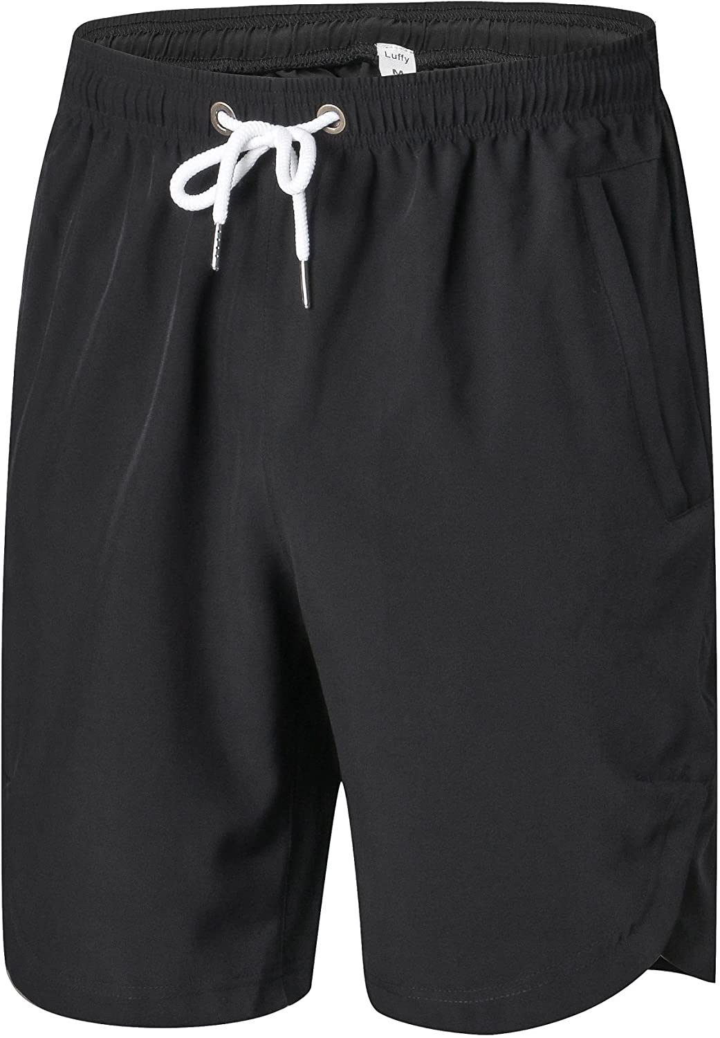 Luffy Mens Quick Dry Athletic Gym Shorts - Stretchable for Bodybuilding Running Workout Active Training Shorts