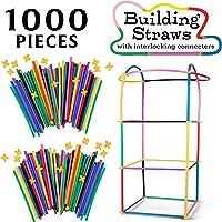 Deals on SCS Direct 1000pc Building Straws & Connectors Set for Kids