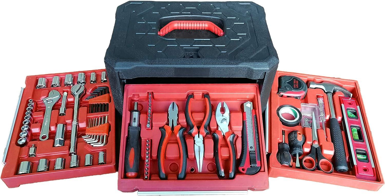 American Builder 99-Piece Emergency Tool Set, Household Hand Tool Kit, Home Repair and Car Maintenance Tool Set, Auto Tools, Industrial Tools, Mechanical Tools, Garage Tools