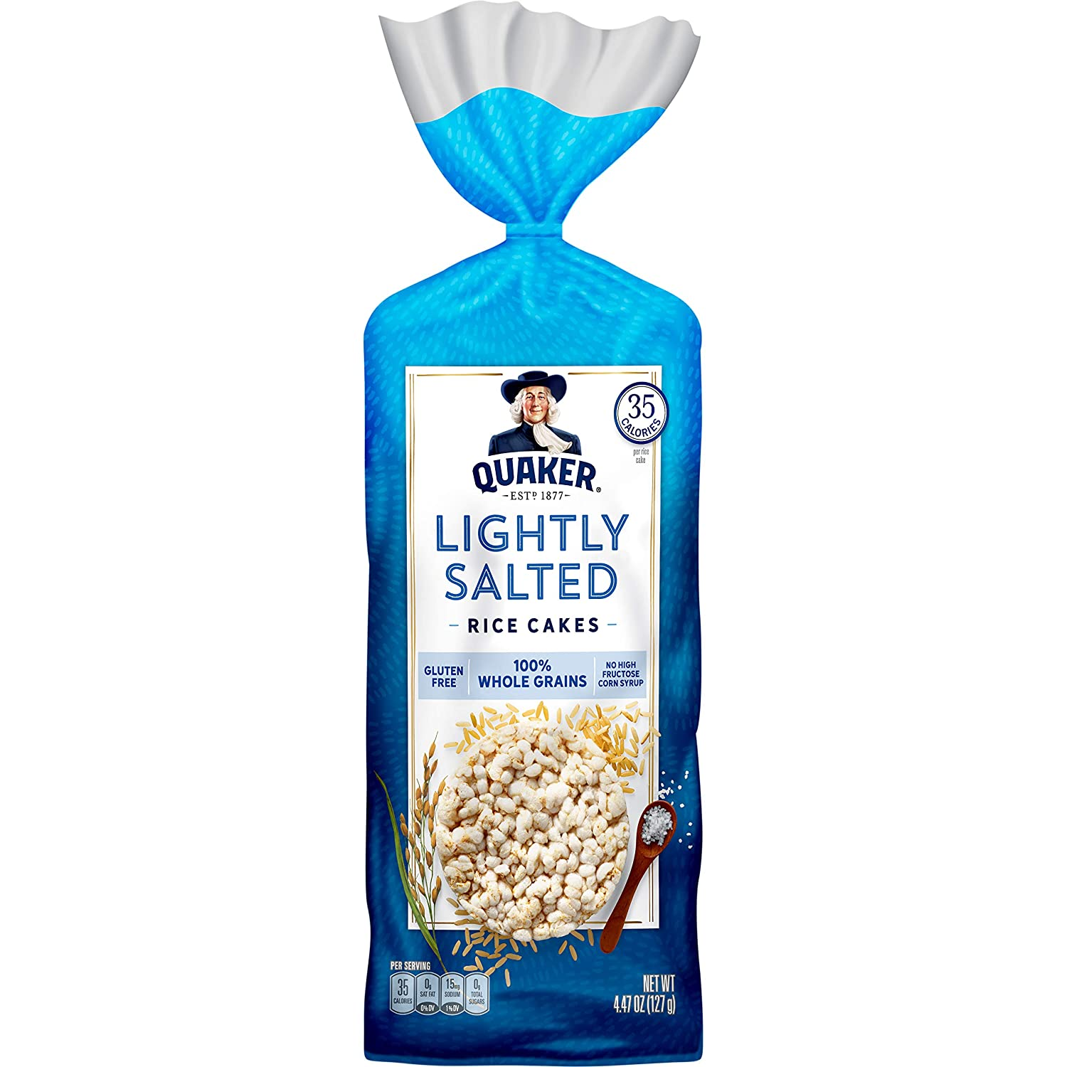 Quaker Rice Cakes, Lightly Salted, 4.47 Ounce