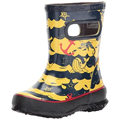 Bogs Kids' Skipper Waterproof Rubber Boys and Girls Rain Boot