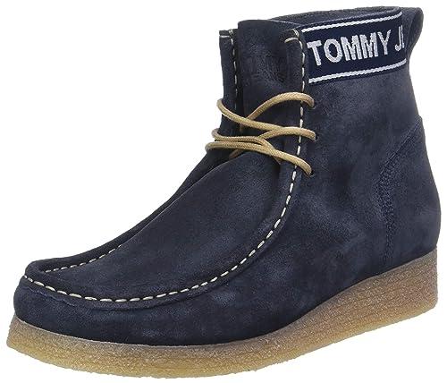 Tommy Jeans Wmn Crepe Outsole Suede Wallaby, Botines para Mujer: Amazon.es: Zapatos y complementos