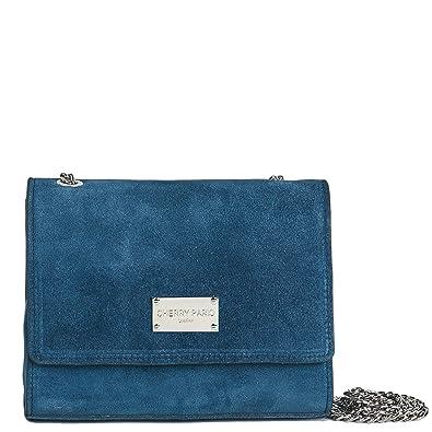 Cherry paris Lisbon Sac Pochette - Cartera de mano de Piel para mujer azul marino: Amazon.es: Zapatos y complementos