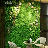 BJL-Wall Decoration Background Wall - Artificial Plant Wall, Wedding Flower Wall, Three-Dimensional Screen Roof Wall Decoration (4 Styles to Choose from) OYO (Color : 01)