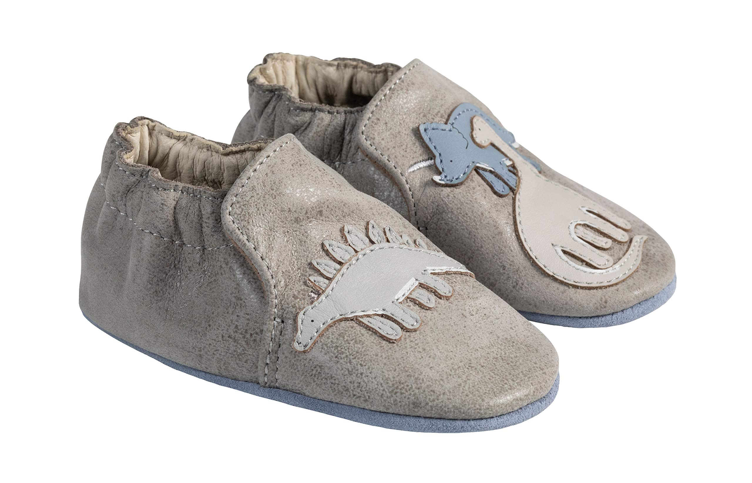 Robeez Ramsey Soft Sole Baby Shoe 0-6mo Grey by Robeez