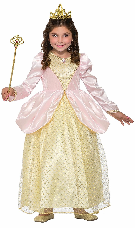 Forum Novelties Girls Gilded Rose Princess Costume, Pink, Medium