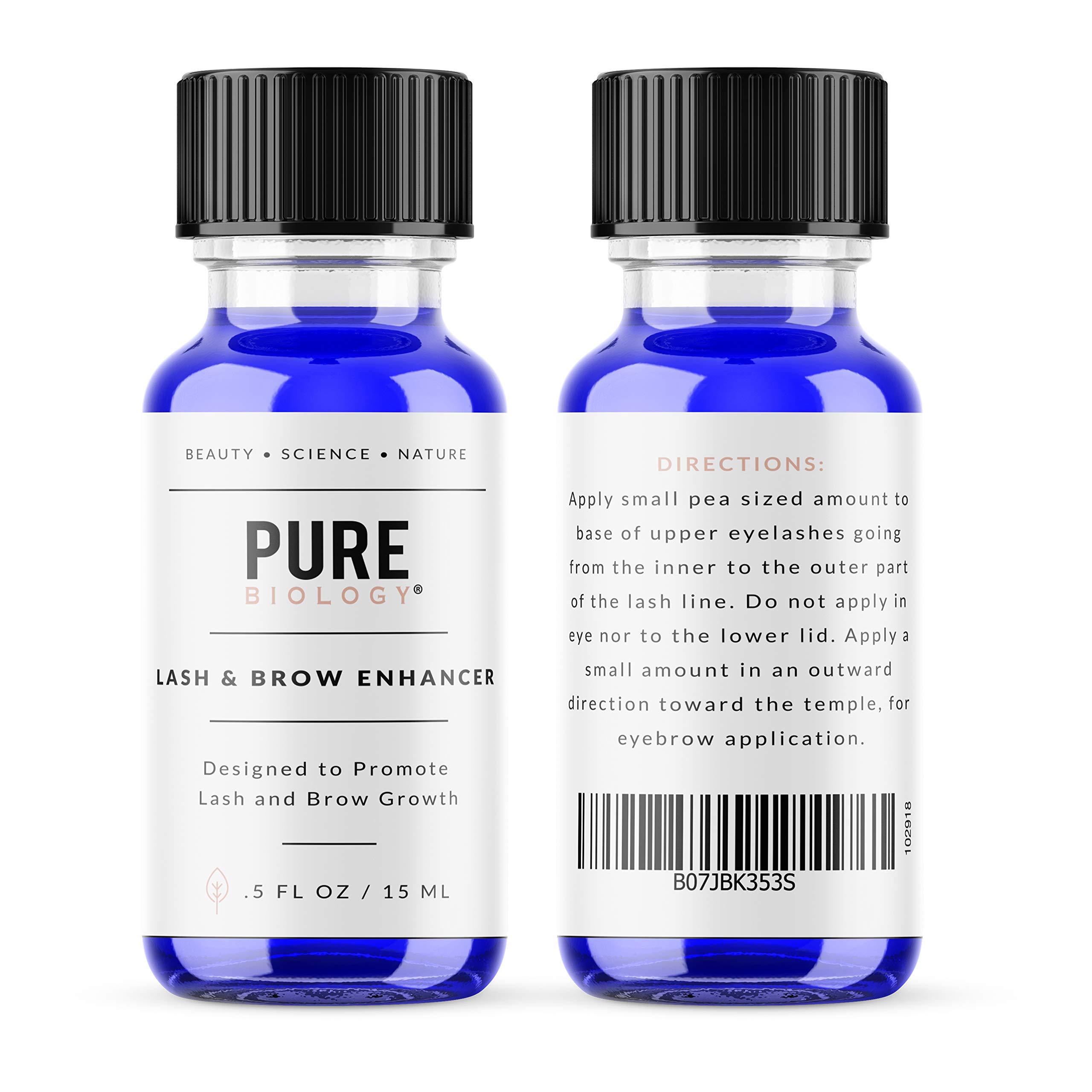 Premium Eyelash Growth Serum & Eyebrow Enhancer - Castor Oil, Biotin, Green Tea Extract, Natural DHT Blockers & Breakthrough Hair Growth Stimulating Complex for Men & Women by Pure Biology (Image #4)