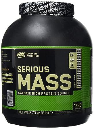 Optimum Nutrition Serious Mass Ganador, Galletas y Crema - 2721 g: Amazon.es: Salud y cuidado personal