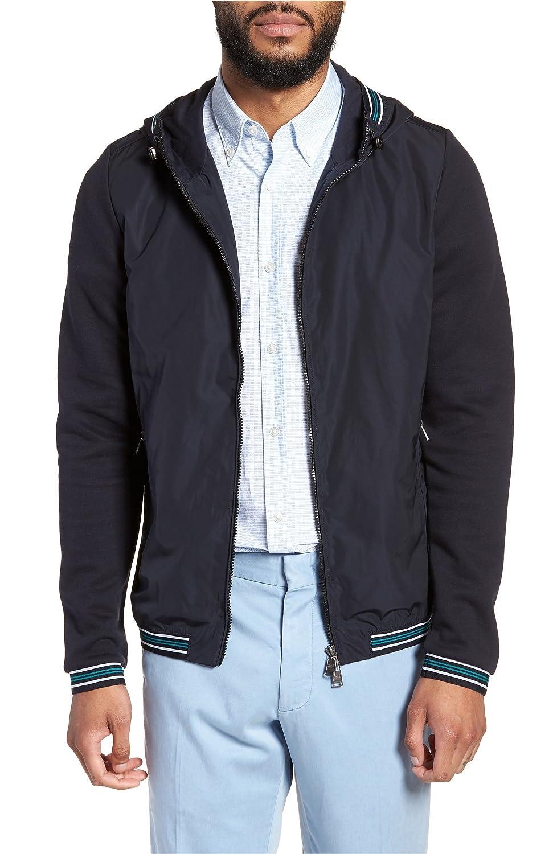 [ボス] メンズ ジャケットブルゾン BOSS Sibly Slim Fit Jersey Hooded Jacket [並行輸入品] B07DW5WQD2 Small