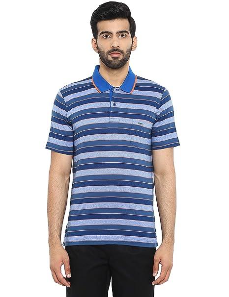 bb772e26 Colorplus Dark Blue Regular Fit Cotton T-Shirt: Amazon.in: Clothing ...