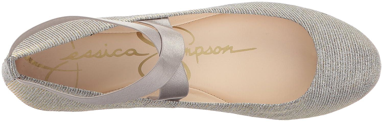Jessica Simpson Women's Mandayss Ballet Flat B06W51LC7D 5.5 B(M) US|Gold/Multi