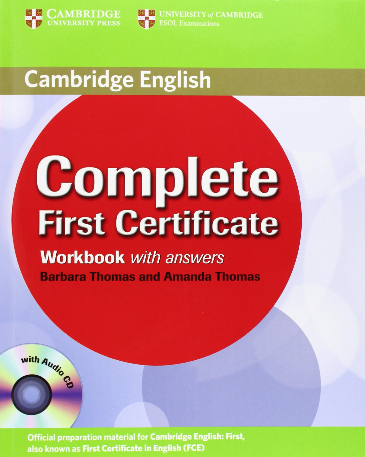 Complete First Certificate Workbook With Answers And Audio Cd Amazon Co Uk Thomas Amanda Thomas Barbara 9780521698320 Books