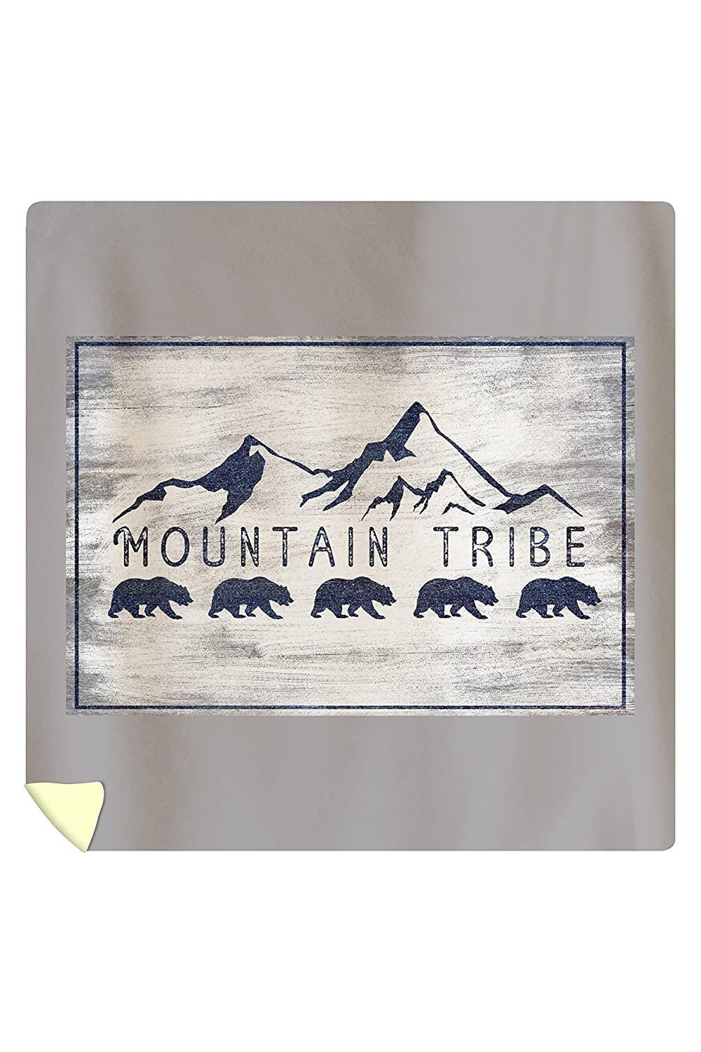 Amazon.com: Mountain Tribe - Grizzly Bear and Mountains - Rustic (88x88 Queen Microfiber Duvet Cover): Home & Kitchen