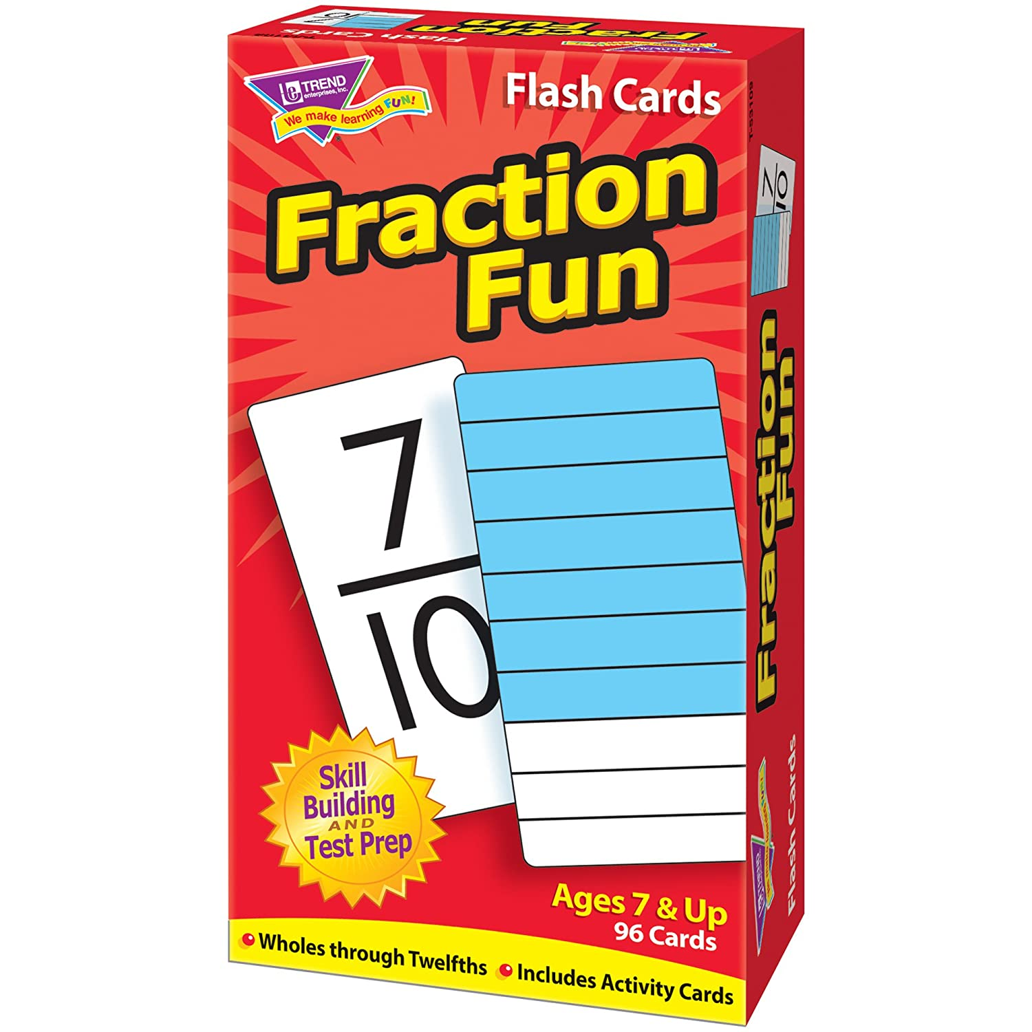Amazon.com: Fraction Fun Flash Cards: Toys & Games