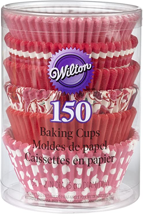 150 Pack Pink Cupcake Cases