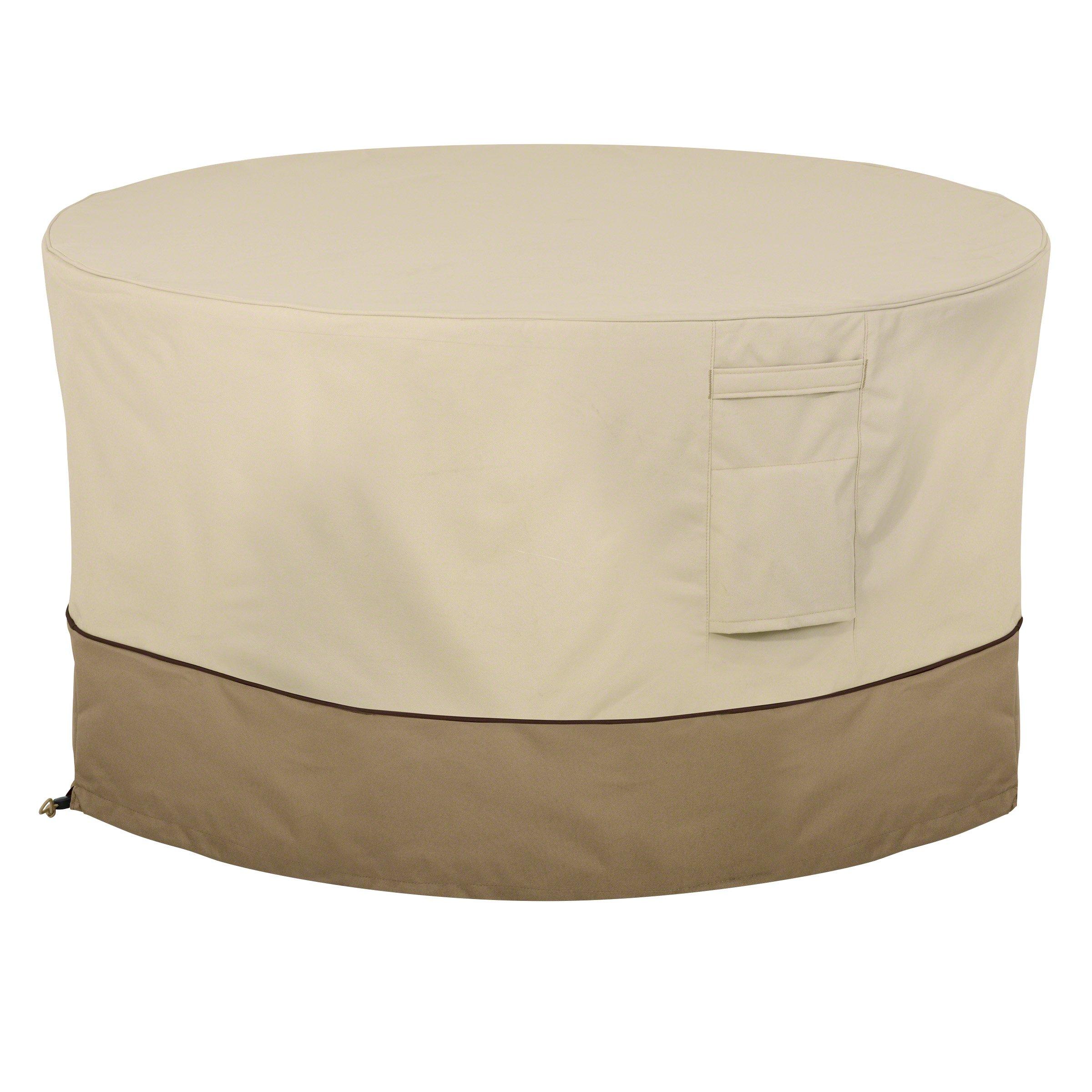 Classic Accessories 55-465-011501-00 Veranda Round Fire Pit/Table Cover, 42-Inch