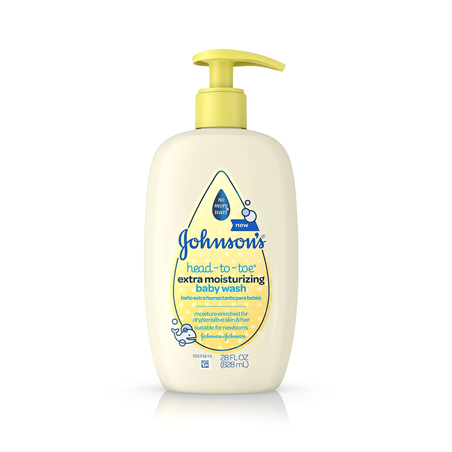 Johnson's Baby Moisture Wash, 15 Ounce (Pack of 6) Johnson's J&J956920