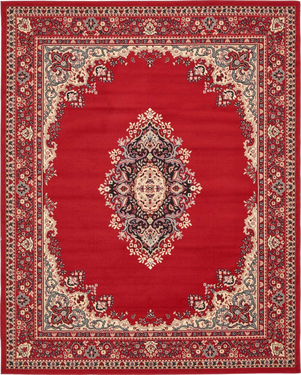 Unique Loom Reza Collection Classic Traditional Red Area Rug 8 0 x 10 0