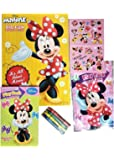 Minnie Mouse Coloring and Activity Book Set - 1 Jumbo Coloring Book, 25 Stickers, 4 Crayons and Bonus Mini Coloring Book